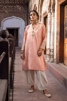 CAPSULE | ETHNIC Pakistani Fashion Casual, Eid Collection, Punjabi Suits, Pink Color, Fitness Models, Sari, One Piece, Shirts, Outfits