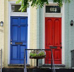 Democrat or Republican?  Doors in Washington, D.C.