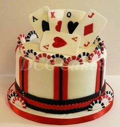crossword and playing cards cake images - Google Search