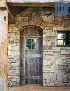 House Plans Mansion, Rustic Stone, Wood Stone, Rustic Home Design, Luxury Cabin, Home On The Range, House On The Rock, Rustic Doors, Architect House