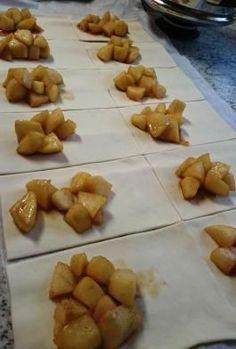 Apfeltaschen wie vom Bäcker - Einfach, schnell selbstgemacht! Schritt für Schritt erklärt.