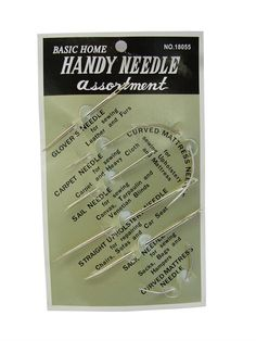 Needle set with 7 different needles sail curved by JeAdore on Etsy, $4.99