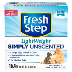 Fresh Step Lightweight Multi-Cat Unscented Clumping Cat Litter - 15.4lb