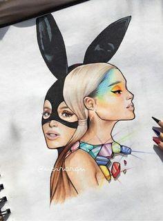 pin  malia Ariana Grande Drawings, Ariana Grande Wallpaper, Ariana Grande Pictures, Bff Drawings, Amazing Drawings, Princesse Disney Swag, Celebrity Drawings, Queen, Fanart