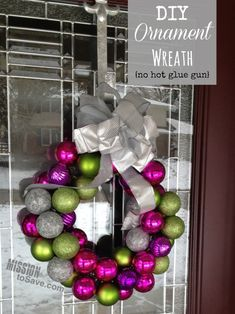 Check out how to make this easy DIY Ornament Wreath- and there's no hot glue gun required!