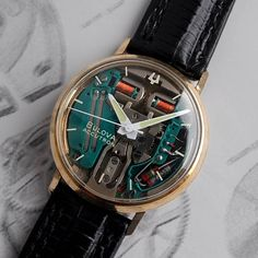 I don't know that you'd call it artistic approach to old watches, but the Bulova Accutron Spaceview is really neat! And we service these!