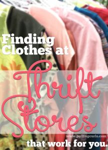 Tips for shopping for kids clothes at Thrift Stores (shop 3 sizes ahead for out of season clothes on sale)