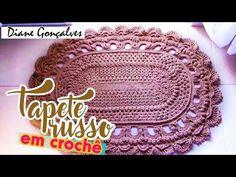 Crochê - Tapete Russo - 1ª Parte (1 de 4) - YouTube Crochet Russo, Crochet Mat, Crochet Doily Patterns, Crochet Designs, Crochet Doilies, Mandala Crochet, Knitting Projects, Crochet Projects, Crochet Videos