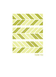 Tribal Pattern Arrow Thank You in Green 4 x 5.5 by SusanHazelRich, $5.00