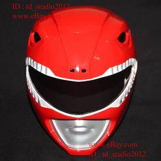 1:1 Halloween Costume Cosplay Mask Mighty Morphin Red Power Ranger Helmet - Pr02 from $199.0