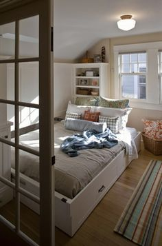 A Portland bungalow gains much-needed storage like this wall bed via | OregonLive.com-