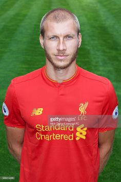 Ragnar Klavan of Liverpool poses for a portrait at Melwood Training Ground on August 5, 2016 in Liverpool, England.