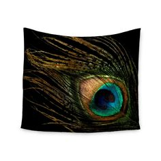 Adorn the surfaces of your abode with an exciting Peacock Black tapestry. This wonderful piece is a great way to add color to your bed, ceiling, and, of course, walls. Decorate with a gorgeous piece o