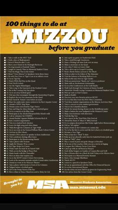 100 things to do before you graduate