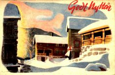 Nyttårskort Jørgen Thorsrud utg Børrehaug & Rønning stemplet 1946 Painting, Art, Kunst, Art Background, Painting Art, Paintings, Performing Arts, Painted Canvas, Drawings