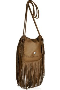 Ralph Lauren Collection - Fringed leather shoulder bag b2fafc1f01391