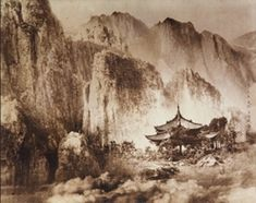 """Chin-san Long. """"Picture in the painting, painting in the picture"""": firsttimeuser — LiveJournal Chinese Landscape Painting, Chinese Painting, Chinese Art, Landscape Paintings, Landscapes, Oriental, Long Pictures, Ink Painting, Asian Art"""