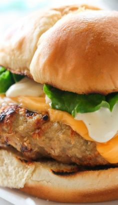 Cheddar Ranch Chicken Burger
