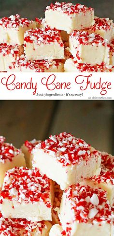 Looking for a simple & delicious peppermint recipe this holiday season? How about this Candy Cane Fudge, with just 3 ingredients, you can't go wrong. Perfect for gift giving, holiday parties, potlucks & leaving out for Santa. on kleinworthco.com