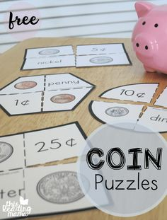 FREE Printable Coin Puzzles - This Reading Mama