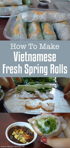 Spring rolls are considered the national dish of Vietnam. Many believed that the Vietnamese spring rolls originated from China but to locals, their spring rolls are not influenced by. Vegetarian Vietnamese, Vegetarian Recipes, Cooking Recipes, Vietnamese Food, Savoury Recipes, Healthy Recipes, Vietnamese Recipes, Vegetarian Cooking, Healthy Eats