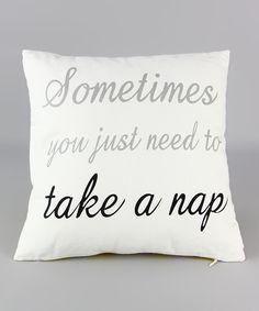 'Take a Nap' Linen Throw Pillow ==