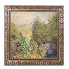 Bring museum-worthy style to your gallery wall with this framed print of Claude Monet's Garden at Montgeron.   Product: Framed printConstruction Material: Paper and woodColor: Gold frameFeatures: Reproduction of original artwork by Claude MonetReady to hang