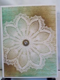 hello doily SUO by graciesart - Cards and Paper Crafts at Splitcoaststampers