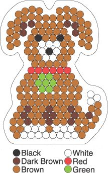 Dog hama perler beads pattern