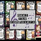 This bulletin board will introduce your students to 12 famous composers.  CUTE!