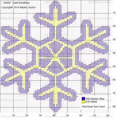 Giant Snowflake Plastic Canvas Pattern 1                                                                                                                                                                                 More