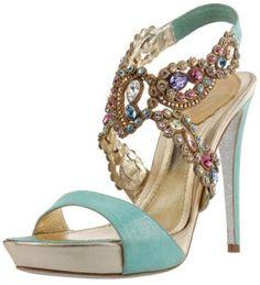 *Rene Caovilla Leather and Stones Sandal...