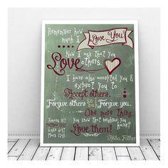 Scripture Chalkboard Art Scripture Download Love by CallMeArtsy, $5.00 Scripture Chalkboard Art, Bible Verse Art, Romans 15, Love Your Neighbour, Forgiving Yourself, Notebook, Art Print, Etsy, Love Thy Neighbor