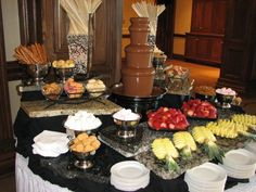 Chocolate Fountain Display Ideas - Home Page Chocolate Lasagna Cake, Chocolate Pudding Desserts, Chocolate Chip Cookies, Chocolate Fountain Bar, Chocolate Fountains, Chocolate Quotes, Chocolate Chocolate, Dessert From Scratch, Candy Cakes
