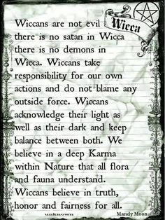 Wicca, I'm not a Wiccan witch but it needs said that they are not evil.no more than any other witch. Love & Light )o( Wiccan Witch, Wicca Witchcraft, Wiccan Quotes, Which Witch, Spiritual Beliefs, Practical Magic, Book Of Shadows, Believe, 1