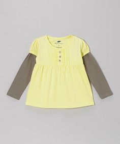 Take a look at this Buttercup Layered Organic Tee - Infant, Toddler & Girls by The Green Creation on #zulily today!