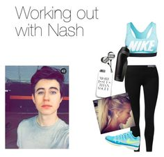 """""""Working out with Nash"""" by onedirection-5sos-preferences122 ❤ liked on Polyvore featuring мода и NIKE"""