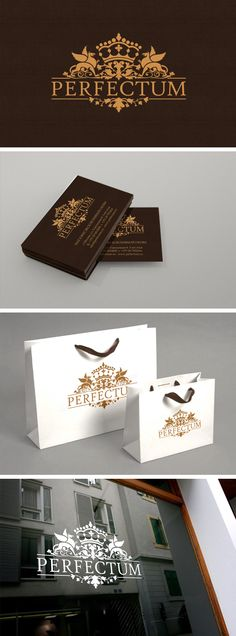 PERFECTUM. Logo © Андрей Хоров Lovely #identity #packaging #branding PD