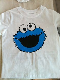 5ed2e3dec How to: screen print Cookie Monster Shirt, Diy Screen Printing, Custom Printed  Shirts