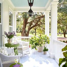 southernlivingmagWhen you just need a day on the porch #slhomes