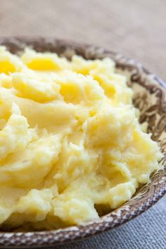 Perfect Mashed Potatoes ~ Heavenly mashed potatoes recipe using buttery Yukon Gold potatoes, cream, butter, milk, salt and pepper. ~ SimplyRecipes.com