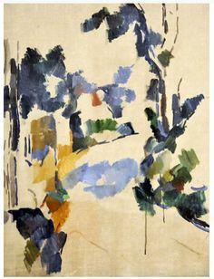 """1904.- """"Estudio de árboles/ Study of trees"""". PAUL CEZANNE. Su visión revolucionaria de concebir la pintura lleva a este pintor francés a representar la NATURALEZA desde diferentes PERSPECTIVAS al mismo tiempo ..."""