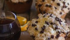Big Double Chocolate Chip Muffins Recipe - An Italian in my Kitchen Homemade Chocolate Chip Muffins, Double Chocolate Chip Muffins, Homemade Muffins, Chocolate Cake, Lemon Shortbread Cookies, Shortbread Recipes, Blueberry Loaf Cakes, Banana Crumb Muffins, Applesauce Muffins