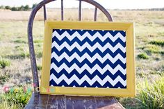 Chevron Magnetic Board by craftychickshop on Etsy, $40.00