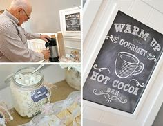amazing winter party with hot coco bar