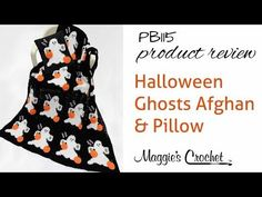 Halloween Ghosts Afghan and Pillow Set Crochet Pattern Product ReviewPB115 $8.50