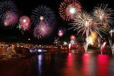 Fireworks Display in Albufeira Algarve Portugal
