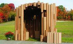 Have some old cardboard mailing tubes you just aren't sure what to do with? Why not use them to build a playhouse for a child in your life?