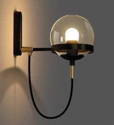 BAYCHEER Industrial Vintage Style Wide Single Light Wall sconces Wall Light Lamp with Glass Globe Shade use 1 Bulb in Black Wall Sconces, Indoor Lighting Fixtures, Led Wall Lights, Sconce Light Fixtures, Lamp Light, Wall Lamp, Wall Sconce Lighting, Corridor Lighting, Glass Lighting