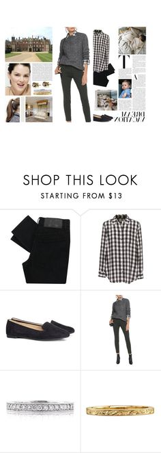 """""""Untitled #3133"""" by duchessq ❤ liked on Polyvore featuring Cheap Monday, Watters, Equipment, H&M, Belstaff and Mark Broumand"""